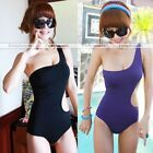 Womens One Shoulder Swimsuit Monokini Bathing Suit One Piece Swimwear Bikini HOT