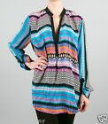 Tolani Tenille Blouse Shirt Tunic in Stripes 8635