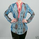 Tolani Tenille Blouse Shirt Tunic in Coral 8635