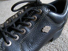 Harley Davidson Low Ankle Riding Shoes Black Leather Sz 10 Women's Black leather