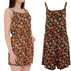 Ladies Sleeveless Strappy Cami Frill Floral Print Women's Summer Shorts Playsuit