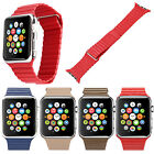 Replace Magnetic Buckle Leather Loop Watch Band Strap For Apple Watch 38mm 42mm