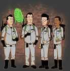 GHOSTBUSTERS & KING OF THE HILL MASHUP *CUSTOM OLDSKOOL ART* Mens Shirt OPTIONS*