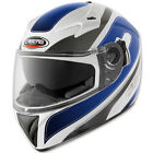 Caberg V2RR chrono white blue MOTORCYCLE HELMET with Integral Sunvisor