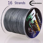 16 Strands 100M-2000M 20LB-300LB Gray Hollow pe Dyneema Braided Fishing Line