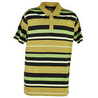 Red Jacket Collar Polo Multi Color Striped Lines Button Dress Shirt Mens Beige