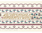 Folk Alphabet Country Kitchen Home School Vintage Tulip Wallpaper Wall Border