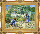 First Steps Vincent van Gogh Painting Reproduction Framed Canvas Fine Art Print