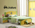 PERSONALISED TRACTOR WALL DECAL STICKER FOR KIDS BEDROOM WALL