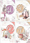 Friend On Your 40th 50th 60th or 70th Birthday Card - Good Quality Design X