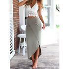 1 Set Women Summer Sexy Lace Bandage Tank Top Slim Full Skirt 2-pieces Dress