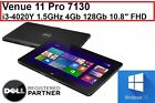 "Dell Venue 11 Pro (7130) i3 1.5GHz 4Gb 128Gb 10.8"" FHD W10H 90Day RTB WTY MLL878"