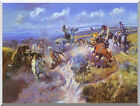 Stretched Western Art Print A Tight Dally and Loose Latigo Charles Russell Repro
