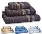 Garret Stripe 100% Combed Cotton Towels, Hand Towel, Bath Towel, Bath Sheet