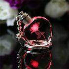 New Fairy Heart Square Crystal LED Light Charm Key Chain Key Ring keyring