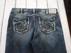 """Women's Silver """"AIKO BOOT"""" Boot Cut Jeans 36x31 NWOT'S"""