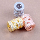 AAA crystal rhinestone cz disco tube bead Spacer charm Hollow infinty carving