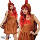 Ladies Adult Fun Chicken Hen Turkey Fancy Dress Costume Womens Christmas Outfit