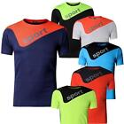 Jeansian Mens Sport Stretch Wicking Breat T-Shirt Top Athletic Quick Dry LSL188