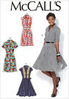 McCall's 7084 Sewing Pattern to MAKE Retro Style Shirt Dress w/Skirt Variations