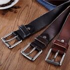 Fashion Men's Casual Wide Soft Leather Belt Strap Metal Pin Buckle Waistband #B9