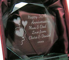 Engraved 30th Pearl Wedding Anniversary Presentation Cut Glass Gift