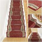 Wave Red - Stair Carpet Runner For Narrow Staircase Quality Wilton Cheap New