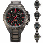 Frilled SHARK Chronograph Analog Stainless Steel Quartz Sport Men Wrist Watch