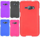 For Samsung Galaxy J1 Rubberized Hard Case Snap On Phone Cover + Screen Guard