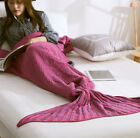 Mermaid Tail Sofa Blanket Super Soft Hand Crocheted Knitting Wool Sleeping bags