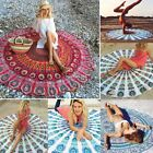 Indian Round Mandala Beach Throw Hippie Yoga Mat Towel Bohemian Tapestry N4U8