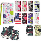 For Samsung Galaxy On5 Premium Leather Wallet Pouch Flip Phone Cover Accessory