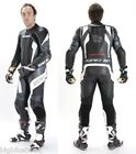Spada Predator Leather Race Suit - Black/White/silver