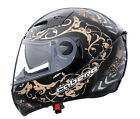 Caberg V2RR Pirat Graphic MOTORCYCLE Helmet Black Bronze with Integral Sunvisor