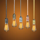 E27 2/3/4M Vintage Fabric Flex Cable Cord Plug In Pendant Lamp Light Bulb Holder
