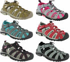PDQ Twin Velcro Closed Toe Toggle Fastening Summer Holiday Beach Sandals Womens