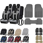 UAA All Season VAN Rubber Mats & Dual-Stitch Racing Polyester Seat Covers Set