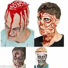 Smiffys Zombie Horror Halloween Head Face Scar Brain Wound Fancy Dress Make Up