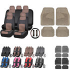 UAA Ultra HD CAR Front Rear Rubber Mats & Synthetic Leather Seat Covers Set $47.95 USD on eBay