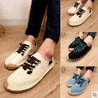 New Summer Mens Breathable Slip On Espadrilles Canvas Loafer Casual Shoes