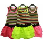 Girls Two In One Look Dress Stripe Top Bow Trim Skirt Holiday Sundress 2-3 Only