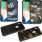 For Apple iPhone XS Max Rubber IMPACT TRI HYBRID Case Skin Phone Cover Accessory