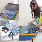 6xWaterproof Clothes Storage Bags Packing Cube Travel Luggage Organizer Pouch #c