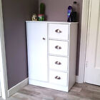 Bathroom Cabinet Chest of Drawers Sideboard Wooden Cupboard White Black Beech