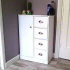 White Bathroom Cabinet Wooden Storage Cupboard 4 Drawers Black Beech Dk Walnut