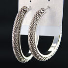 New Fashion Big Loop Silver Chains Hoop Earrings For Women Party Jewelry A2079
