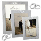 Personalised Silver Plated Entwined Rings Photo Frame, Wedding Engagement Gift