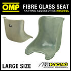 KK05030L OMP FIBREGLASS KARTING KART ADULT SEAT 36 to 38cm SEMI-TRANSPARENT