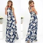 New Womens Sexy Bodycon Floral Evening Cocktail Party Sleeveless Maxi Dress L0L5
