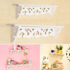White Wood Shelves Filigree Carved Rose Wall Shelf Display Candle Dolls Toys 1PC